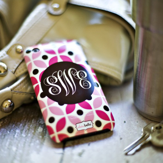 Monogrammed Phone Case by Clairebella