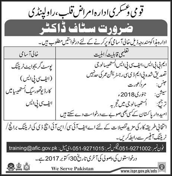 Jobs In Rawalpindi AFIC-NIHD Oct 2017