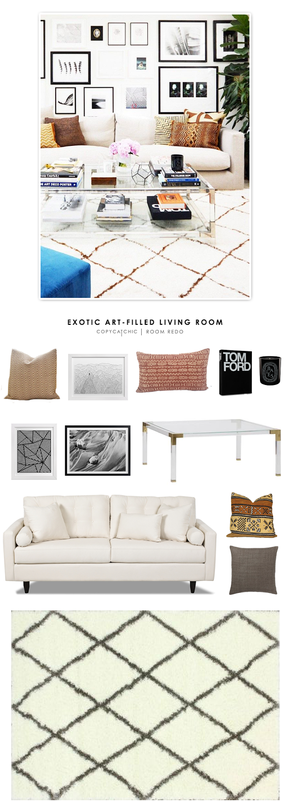 Exotic Living Room Ideas: Exotic Art-Filled Living Room