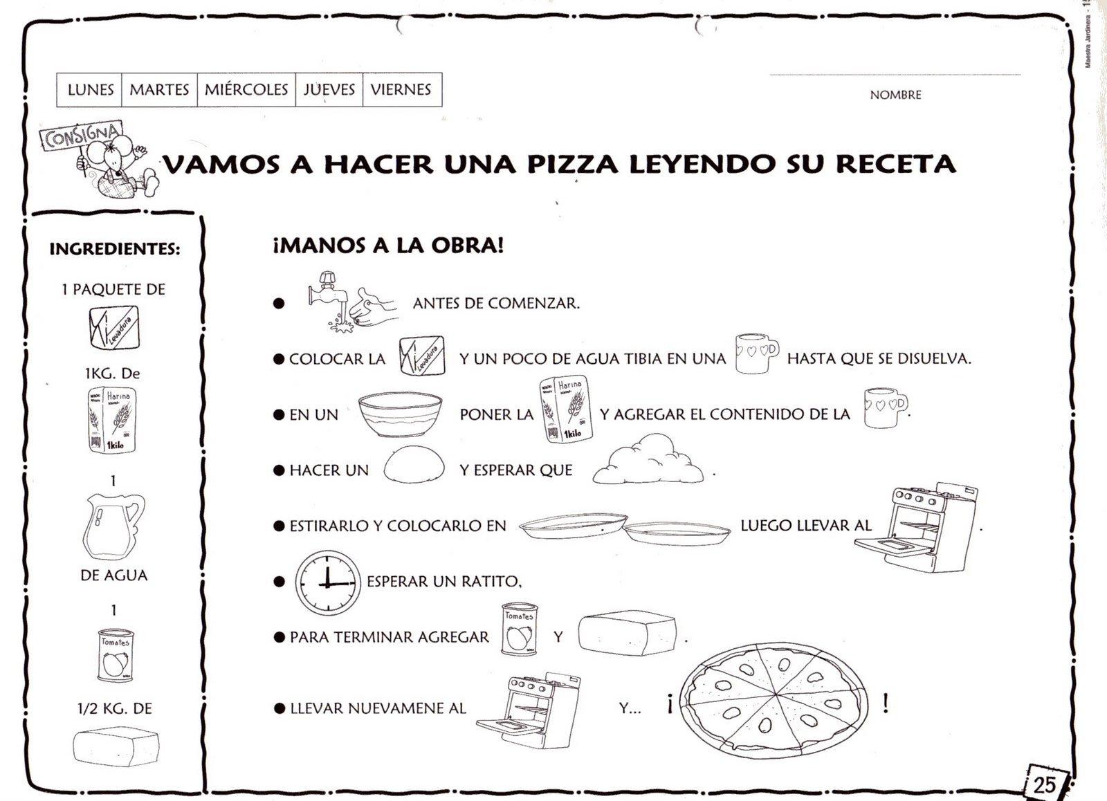 Menta m s chocolate recursos y actividades para educaci n infantil lecto escritura recetas - Titulo manipulador alimentos ...