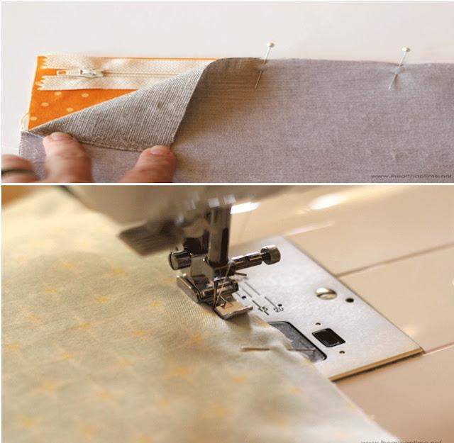 Kumaştan kolay el çantası yapımı