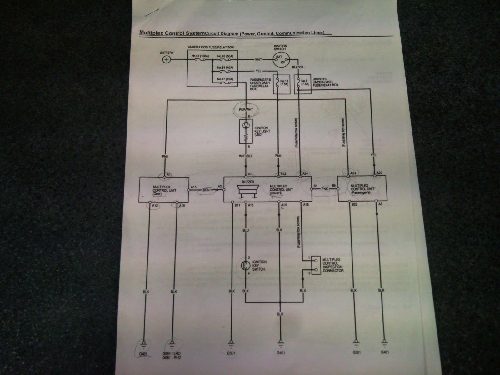 Byunghyunkimttec Honda Multiplexing Board Worksheet