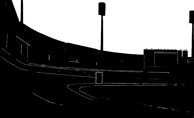 cricket stadium silhouette