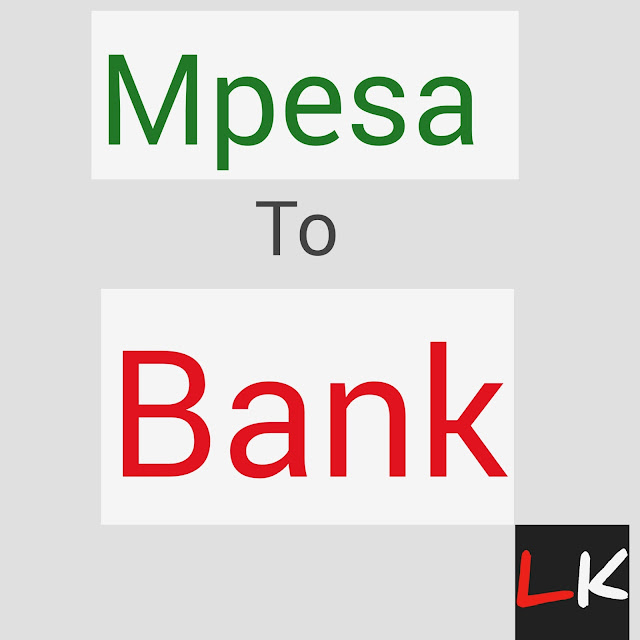 Transfer send mony from mpesa to bank account in kenya
