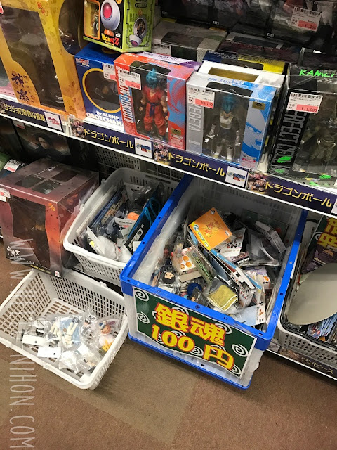 100 yen discount bins in Akihabara anime store