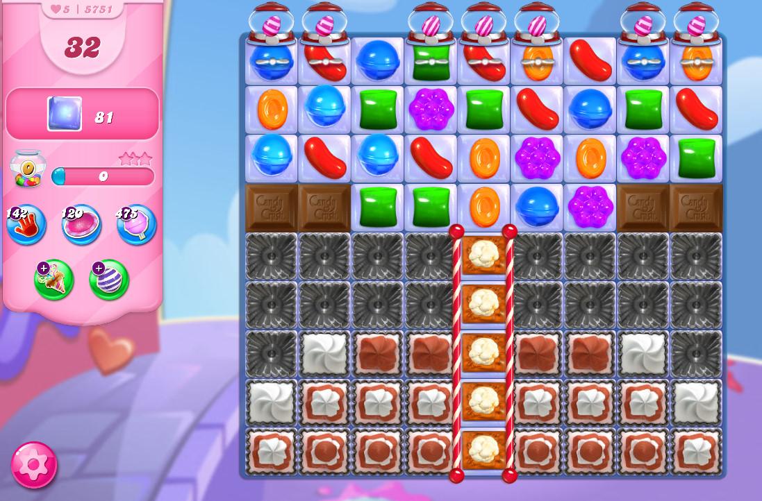 Candy Crush Saga level 5751