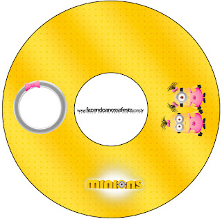Etiquetas de Minions Chicas para CD's.