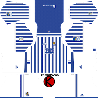 Real Sociedad 2017/18 - Dream League Soccer Kits