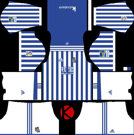 Real Sociedad 2017/18 - Dream League Soccer Kits