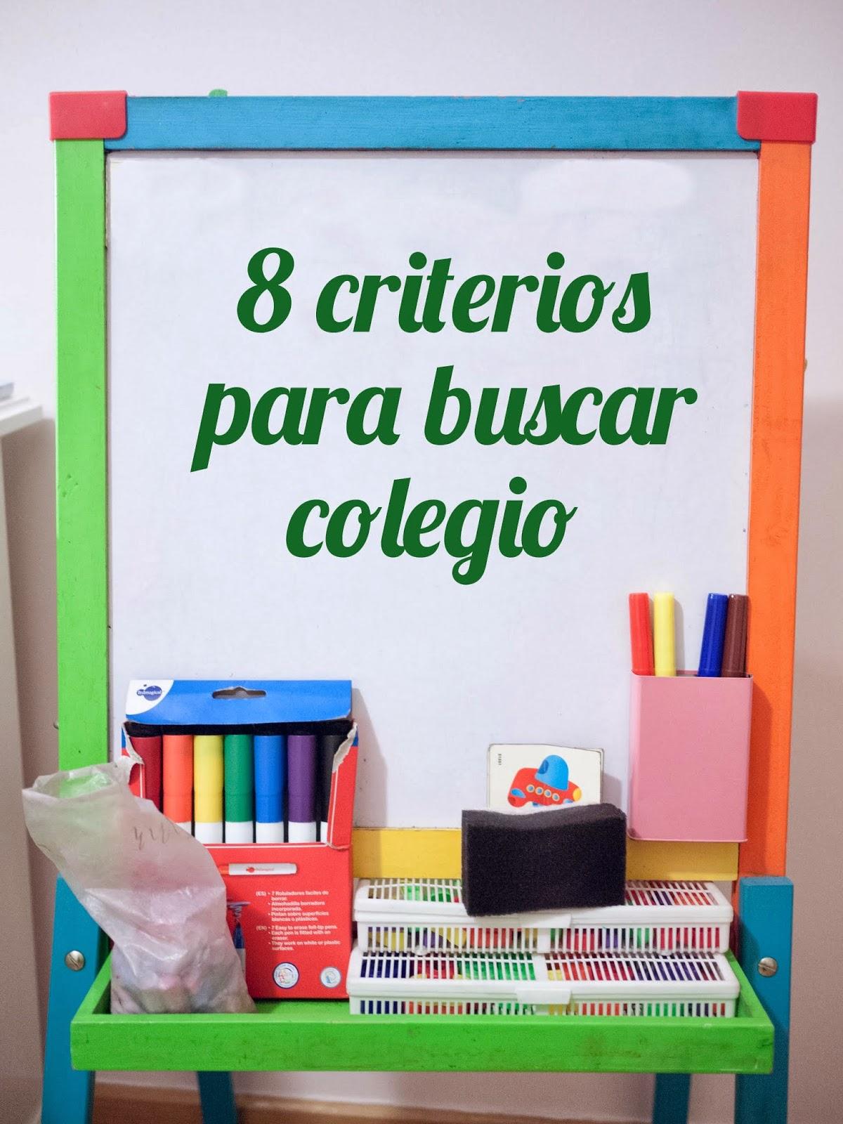8 criterios para buscar colegio