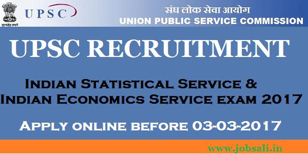 UPSC Notification 2017, UPSC Exam 2017, UPSC Jobs