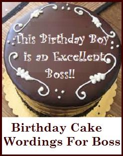 Birthday Cake Wordings Boss