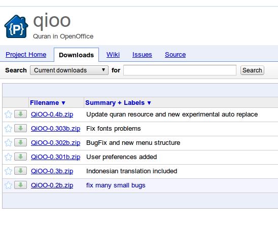 Ubuntu Buzz !: QiOO: Insert Holy Quran Verses in Your Document