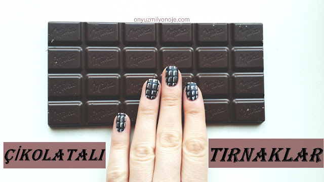 Çikolata Oje Deseni Nasıl Yapılır?