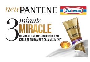 Cara mendapatkan I Kupon Pantene 3 Minute Miracle Gratis di SobatIndomaret