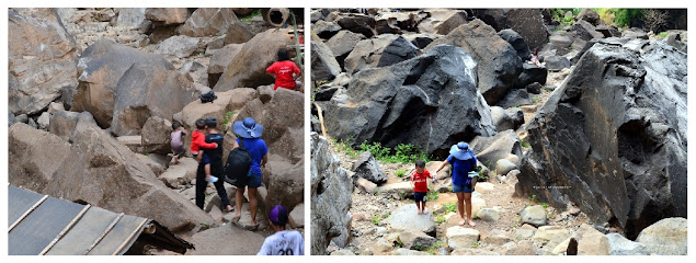 Bongkahan batu vulkanik di Air Terjun Takapala Malino || Jelajah Suwanto