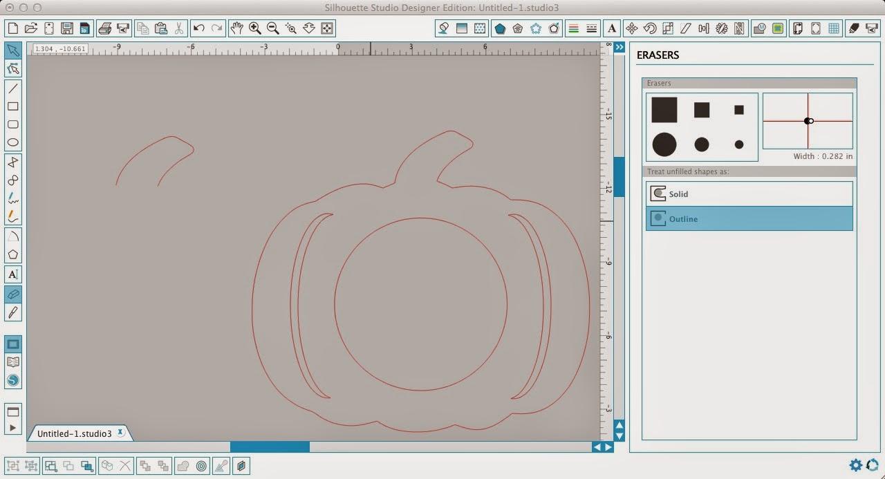 Monogram, pumpkin, Silhouette Studio, Silhouette tutorial, stem