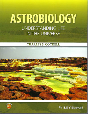 Palmia Observatory Resident Astronomer is reading Astrobiology by Charles Cockell