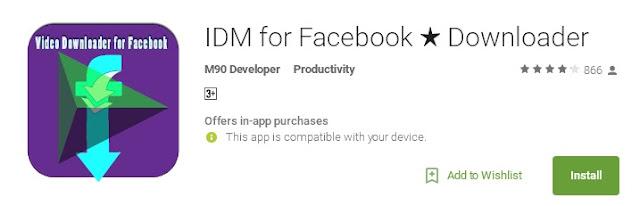 IDM For Facebook