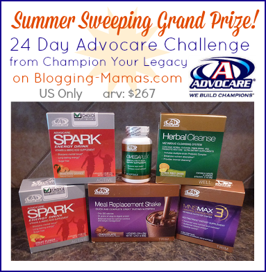 Enter to #WIN a 24 Day Advocare Challenge from Champion Your Legacy!