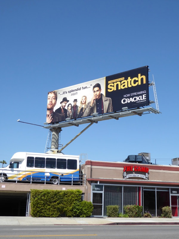 Snatch TV remake billboard