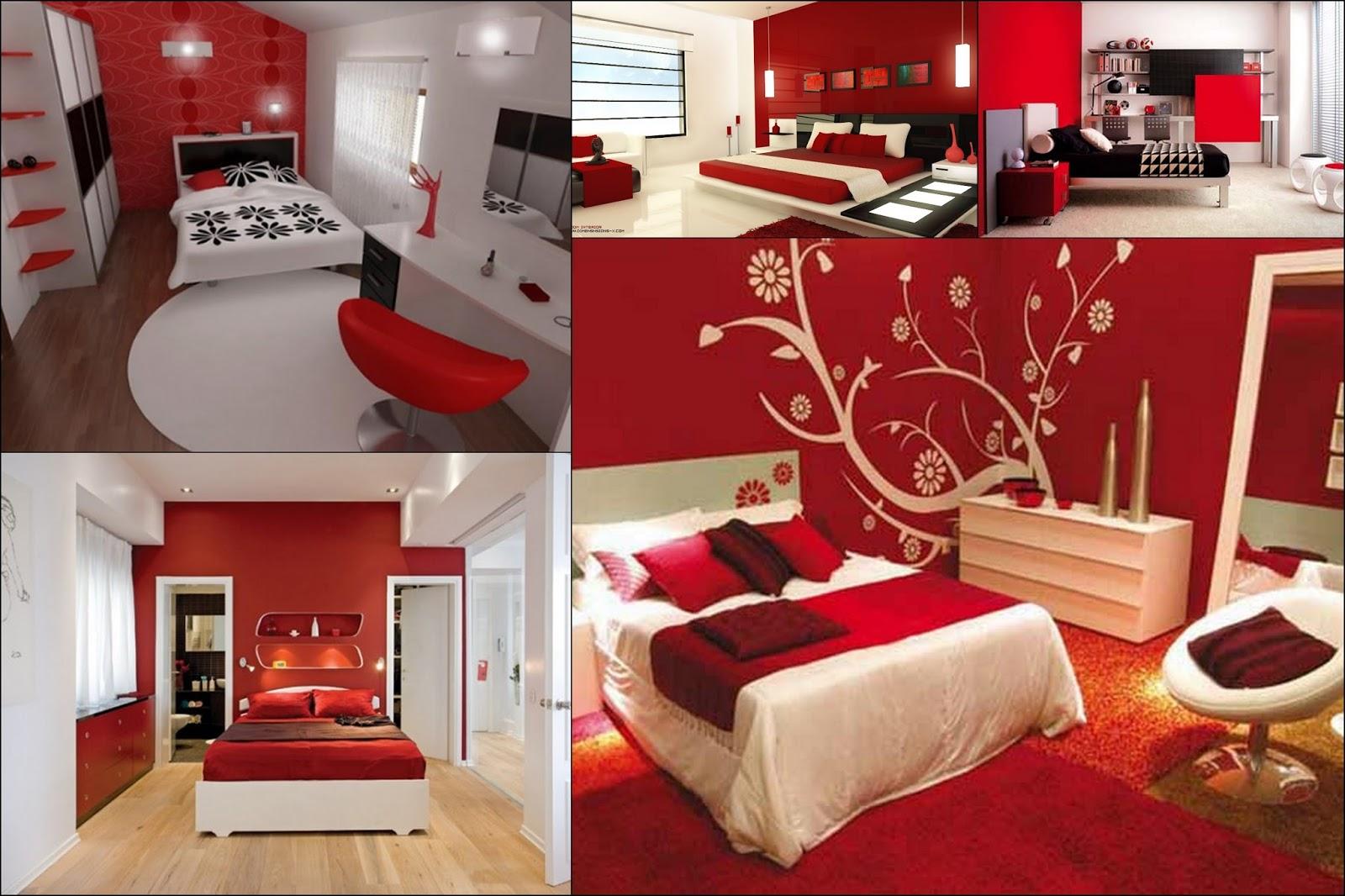 Projeto Uma Pitada de Cor Decoração usando o Vermelho no  ~ Quarto Romantico Vermelho