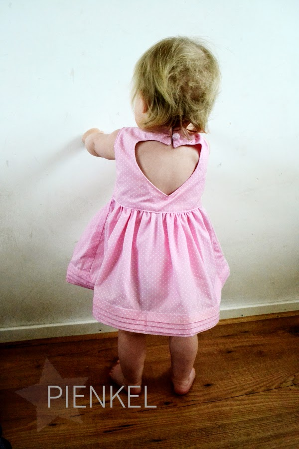 Sweetheart Dress - Pattern by Luvinthemommyhood, sewn by Pienkel