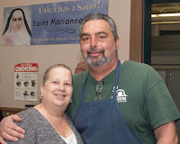 Coordinator Ed Morgan with sister-in-law Rosalie Siuta.