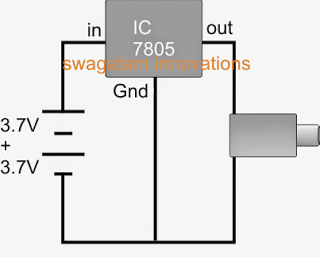 Simple Power Bank Charger using 7805 IC Regulator