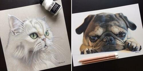 00-Sandrine-R-Sweet-Realistic-Animal-Portrait-Drawings-www-designstack-co