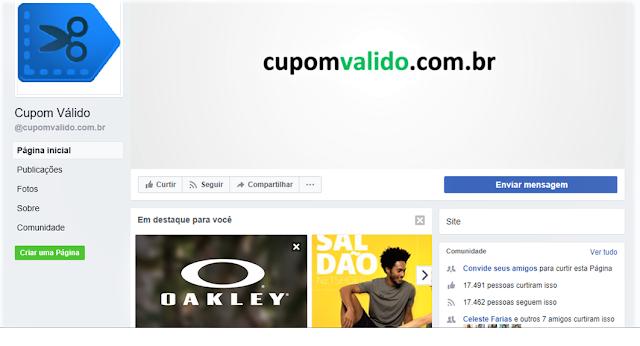 https://www.facebook.com/cupomvalido.com.br/