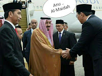 Lho? Ahok Ngacir saat Ditanya Apa Bahas Almaidah Saat Salaman Dgn Raja Arab