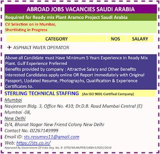 Gulf jobs walkins for Saudi Arabia text image