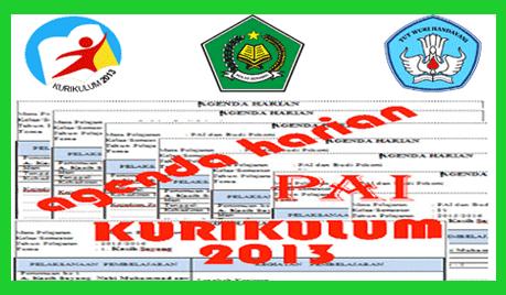 Agenda Harian PAI dan Budi Pekerti SD/MI Kurikulum 2013