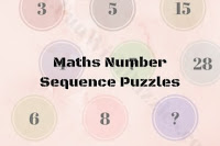 Maths Number Sequence Puzzles with answers