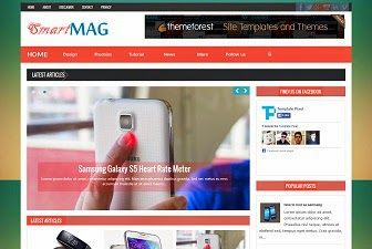 SmartMag Responsive Magazine Blogger Template