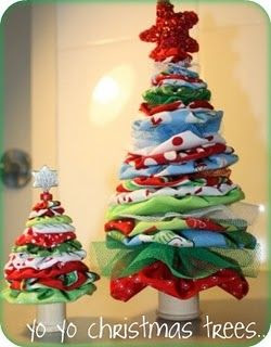 Hankie Christmas Tree Crafts Ideas