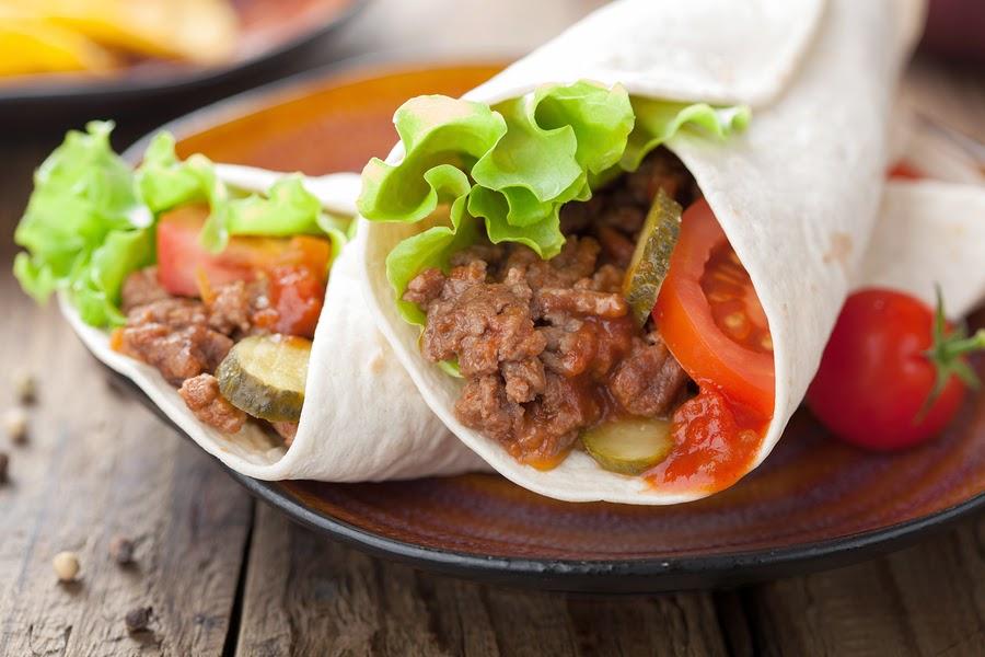 makanan khas meksiko, burritos