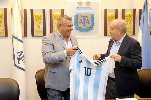 Lombardi firmó convenio con la AFA para producir contenidos audiovisuales sobre la Selección Argentina
