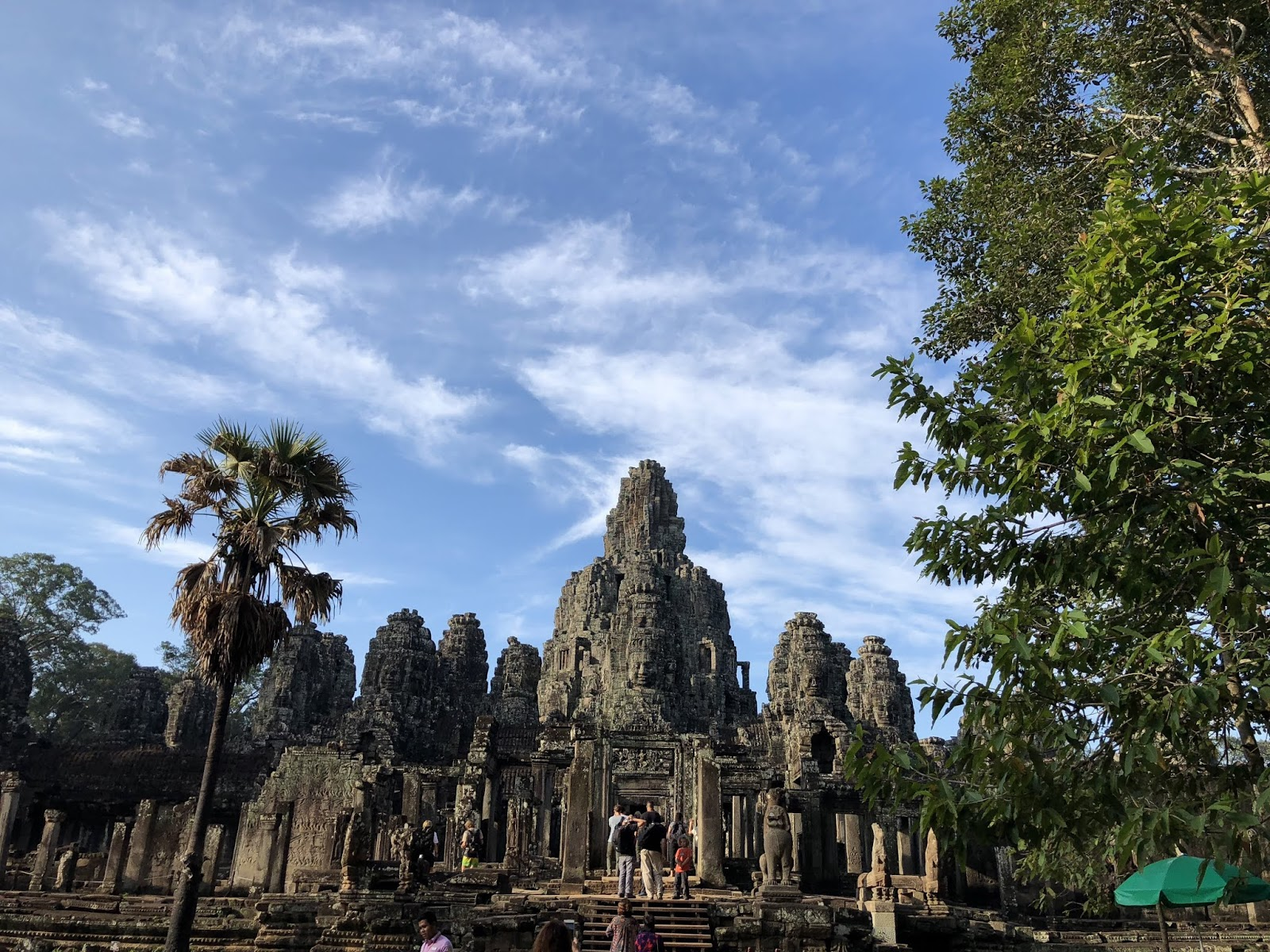 Front view of Bayon Temple