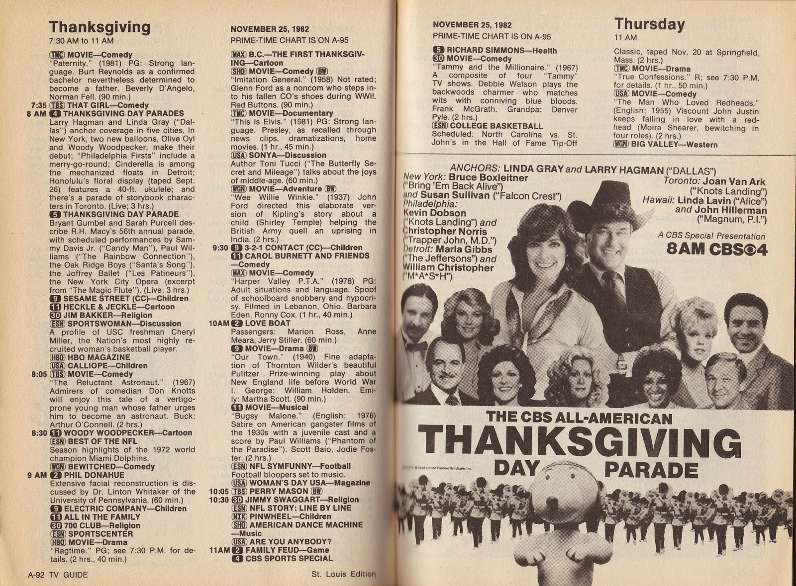 garage sale finds: what was on tv november 20th through 26th, 1982