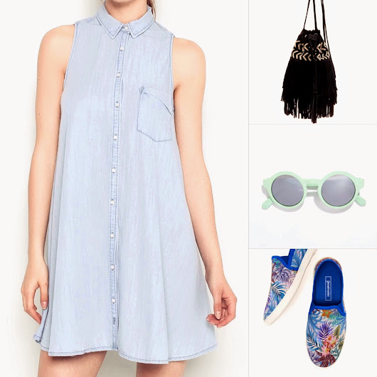 Denim dress for summer