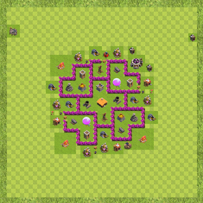 War Base Town Hall Level 6 By zaenali12 (Town TH 6 Layout)