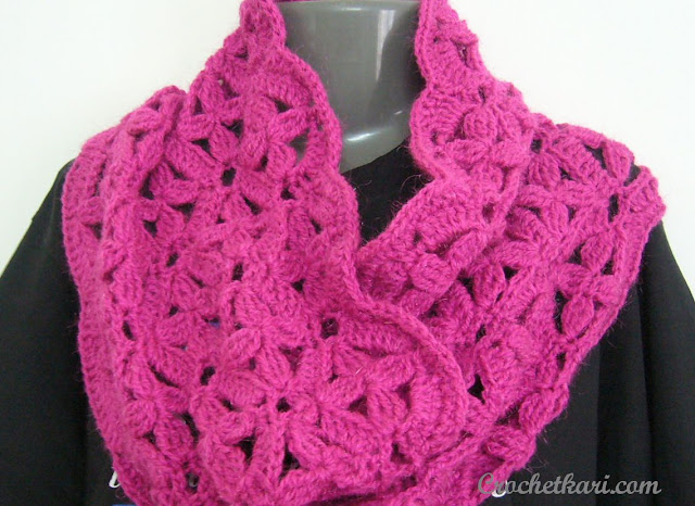 Flowers in my window cowl crochet pattern by Crochetkari