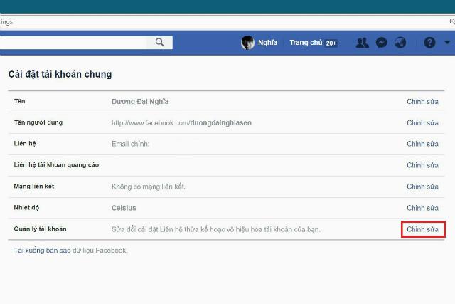 khóa facebook tạm thời 2