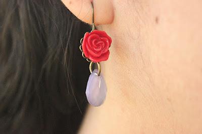 Red Rose Earring Forever 21