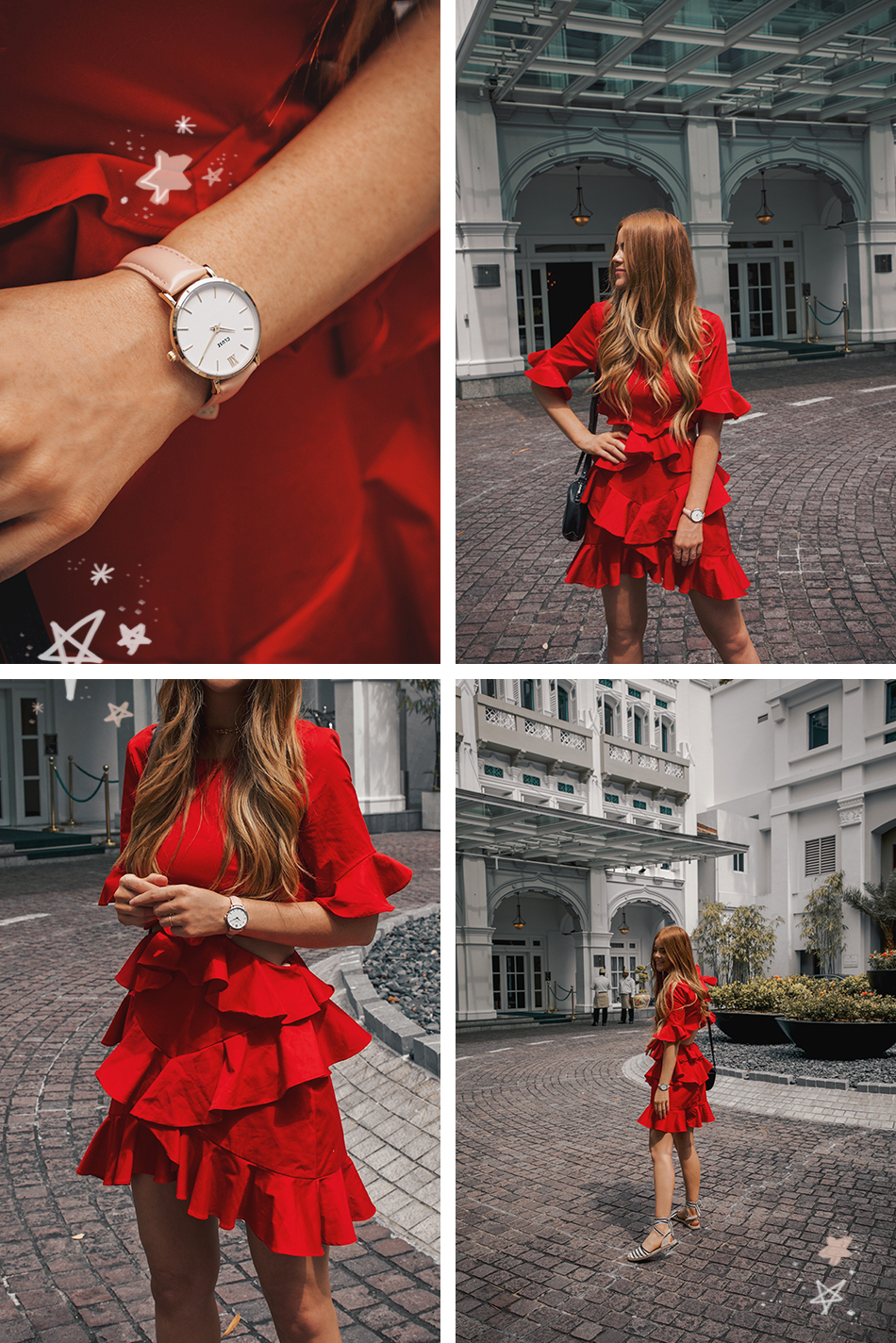 cluse Minuit watch gold pink, fame and partners Xavier dress, InterContinental Singapore