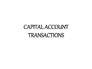 Capital Account Transactions