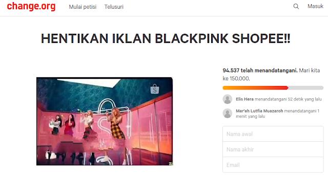 Ramai Petisi 'Hentikan Iklan Blackpink Shopee' Karena Tak mendidik, Sinetron Alay Kapan?