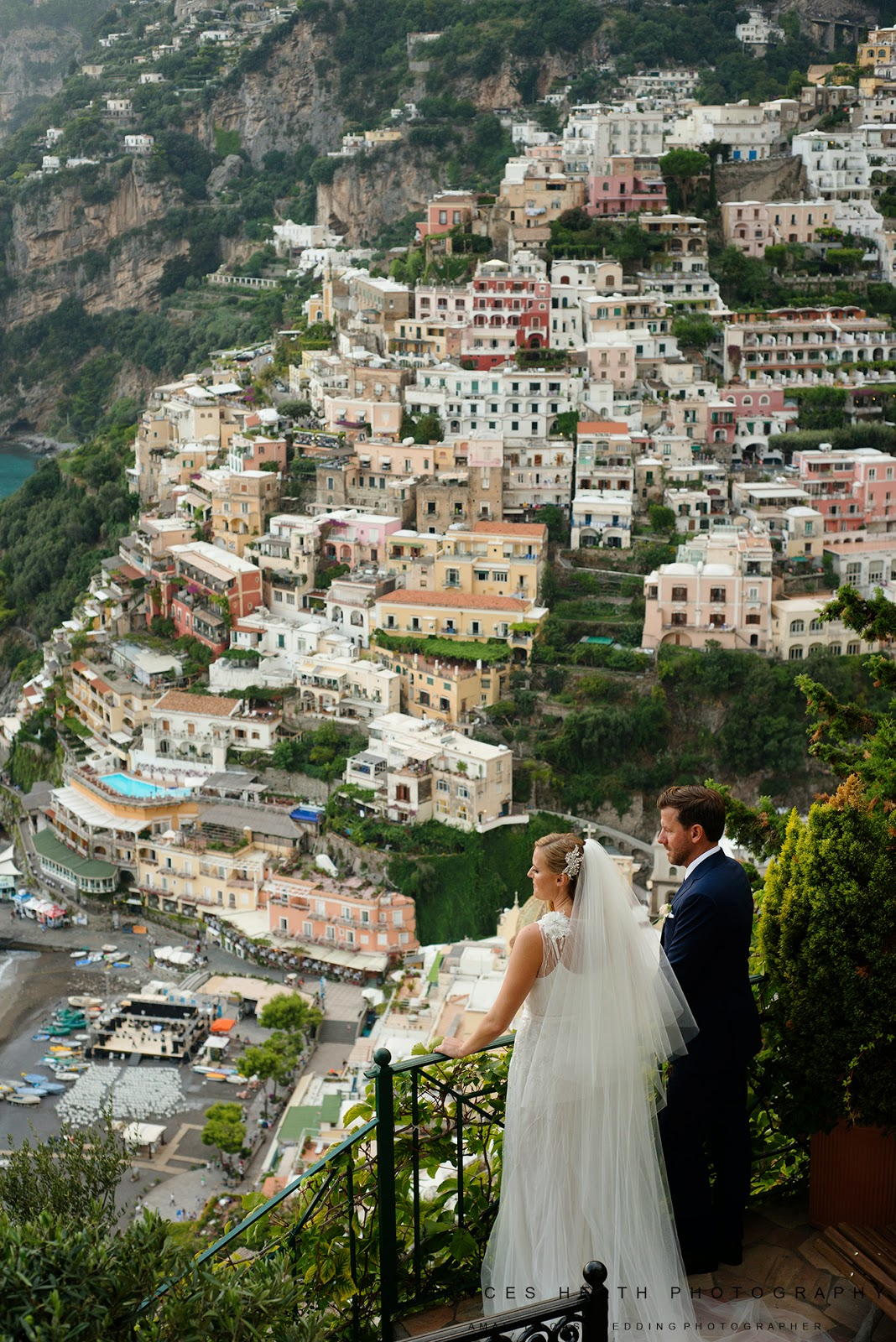 Wedding portrait at Villa Oliviero in Positano